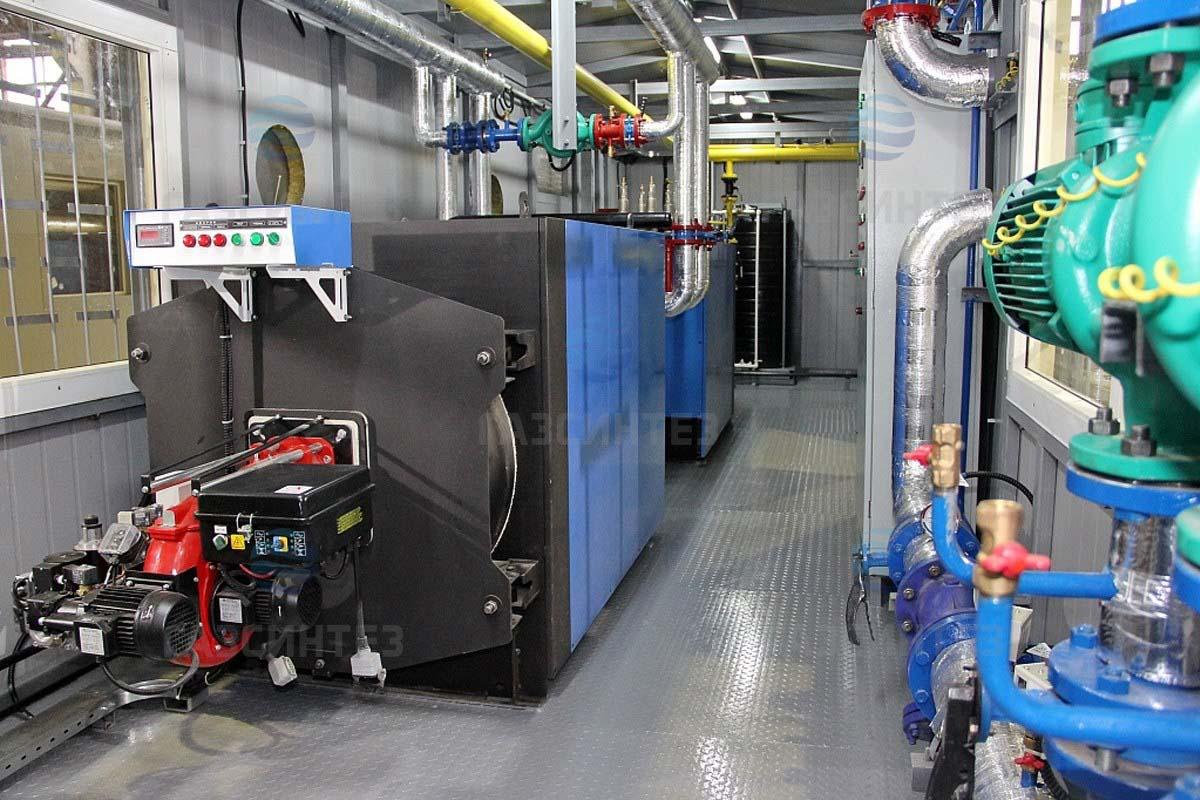 Транспортабельная котельная установка мощностью 1200 кВт