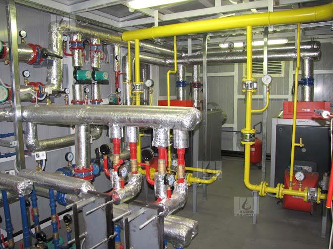 Технологическое оборудование блочно-модульной котельной производительностью 1000 кВт