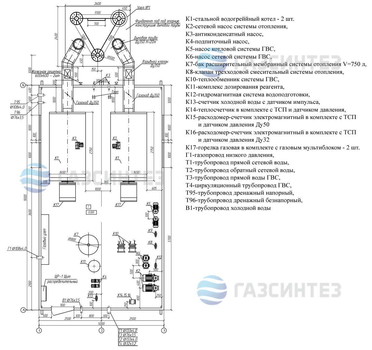 описание блочной котельной тку-500
