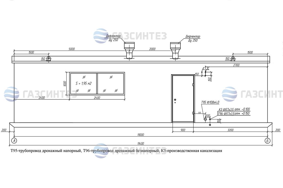 схема котельной в строительных конструкциях